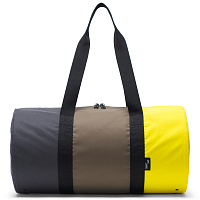 5bc4a8e922bb Herschel PACKABLE DUFFLE Sulfur Spring/Olive Night/Black Reflective ...