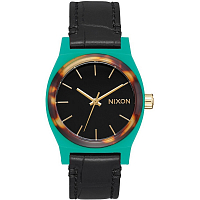 Nixon MEDIUM TIME TELLER LEATHER Green/Mix