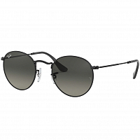 Ray Ban Round Metal BLACK/GREY GRADIENT DARK GREY