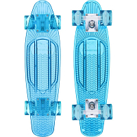 SUNSET SKATEBOARDS OCEAN COMPLETE 22 AQUA BLUE DECK - AQUA BLUE URETHANE WHEELS