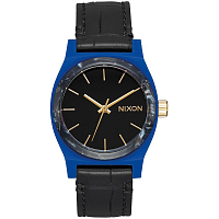 Nixon MEDIUM TIME TELLER LEATHER Navy/Mix