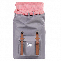 Herschel Little America Mid-Volume GREY/TAN SYNTHETIC LEATHER