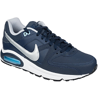Nike AIR MAX COMMAND LEATHER OBSIDIAN/METALLIC SILVER-BLUECAP-WHITE