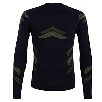 BodyDry LHOTSE LONG SLEEVE SHIRT Black/Lemon