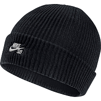 Nike U NK BEANIE FISHERMAN BLACK/WHITE