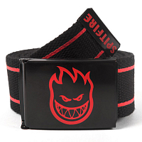 SPITFIRE BELT BIGHEAD STRIPES BLK/RD
