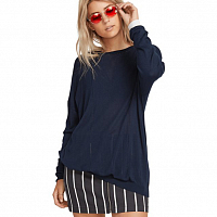 Volcom SIMPLY STONE LS KNIT SEA NAVY