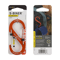 Nite Ize S-BINER SLIDELOCK ALUMINUM 4 ORANGE