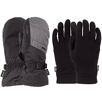 Pow WARNER GTX LONG MITT/WARM Charcoal