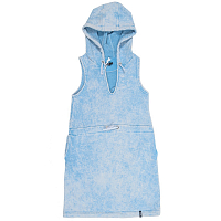 EMBLEM HOODY DRESS WARM JEANS