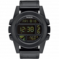 Nixon UNIT SS LEATHER BLACK GATOR