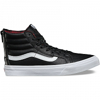 Vans SK8-HI SLIM ZIP (Plaid Flannel) black/true white