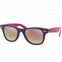 RAY BAN JUNIOR WAYFARER VIOLET/GREEN GRAD. BROWN MIRROR PINK