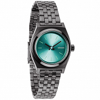 Nixon Small Time Teller GUNMETAL/LIGHT BLUE