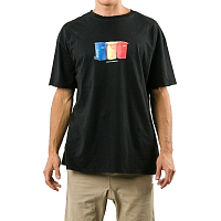 Rusty SURF TRASH SHORT SLEEVE TEE BLACK
