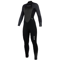 Mystic STAR FULLSUIT 3/2MM BZIP WOMEN Black/Grey