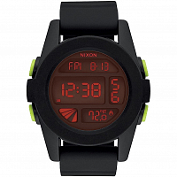 Nixon Unit ALL BLACK/RED