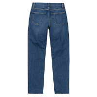 CARHARTT W' PAGE CARROT ANKLE PANT BLUE (DARK STONE WASHED)