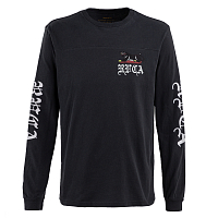 RVCA DOUBLE SKULL LS BLACK