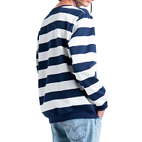 Herschel CREWNECK Border Stripe Peacoat Rib