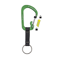 NITEIZE SLIDELOCK KEY RING ALUMINUM 3 LIME