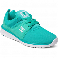 DC HEATHROW J SHOE TURQUOISE/WHITE