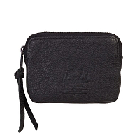 Herschel OXFORD POUCH LEATHER RFID Black Pebbled Leather