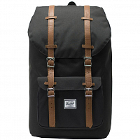 Herschel Little America Black/Tan Synthetic Leather