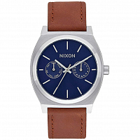 Nixon TIME TELLER DELUXE LEATHER BLUE SUNRAY / BROWN