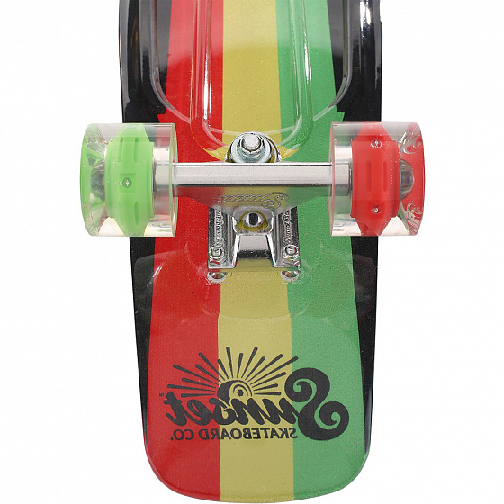 КОМПЛЕКТ СКЕЙТБОРД SUNSET SKATEBOARDS RASTA GRIP COMPLETE 27 SS15 от SUNSET SKATEBOARDS в интернет магазине www.traektoria.ru - 3 фото