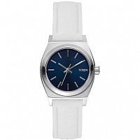 Nixon SMALL TIME TELLER LEATHER NAVY/WHITE