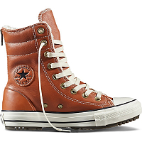 CONVERSE Chuck Taylor All Star Hi-Rise Boot Leather + Fur ANTIQUE SEPIA/PARCHMENT/EGRET