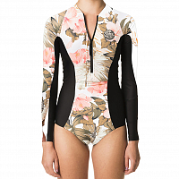Rip Curl G BOMB L/SL UV SURFSUIT WHITE/BLACK
