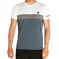 Rip Curl UNDERLINE PANEL S/SL UVT WHITE/NAVY