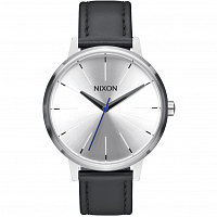 Nixon Kensington Leather SILVER/BLACK/BLUE