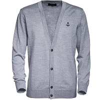 Makia MERINO CARDIGAN GREY