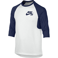 Nike B NK DRY TOP 3QT SLEEVE ICON WHITE/BINARY BLUE/BINARY BLUE