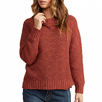 RVCA ZIGGED SWEATER HENNA
