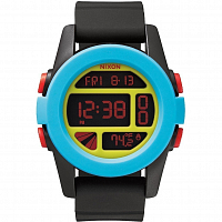 Nixon Unit Black/Blue/Chartreuse