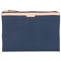 Herschel NETWORK LARGE - MESH Washed Denim/Veggie Tan Leather