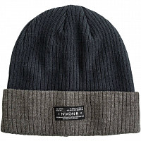 Nixon RELIC BEANIE Black/Heather Gray