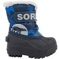 SOREL TODDLER SNOW COMMANDER PRINT Abyss, Super Blue
