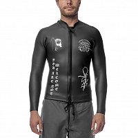 ANKER SUMMER WETSUIT JACKET FRONTZIP BLACK/WHITE