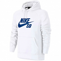 Nike SB ICON PO HOODIE WHITE/HYPER ROYAL