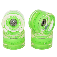 SUNSET SKATEBOARDS CONICAL LONGBOARD WHEEL SET WITH ABEC9 GREEN