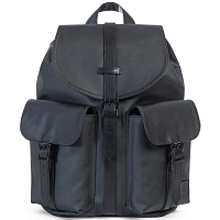Herschel DAWSON WOMENS BLACK/BLACK VEGGIE TAN LEATHER