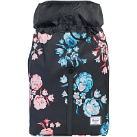 Herschel POST MID-VOLUME Pastel Petals/Black Rubber