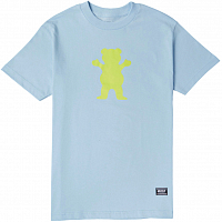 Grizzly OG BEAR S/S TEE Baby Blue / Neon Yellow
