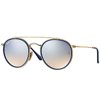 RAY BAN RB3647N GOLD/GRADIENT BROWN MIRROR SILVER