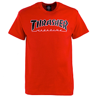THRASHER OUTLINED T-SHIRT RED